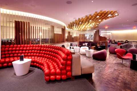 New York JFK Airport: Virgin Atlantic Clubhouse Lounge