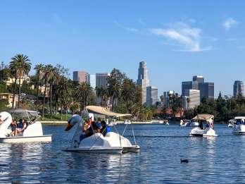 Echo Park Lake: Swan Tretbootverleih