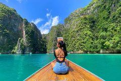 De Phi Phi: Cruzeiro em Barco Tradicional c/ Pôr do Sol