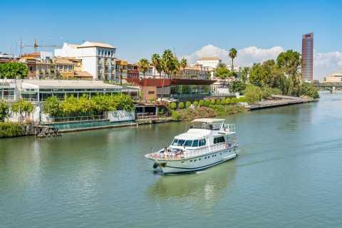 Sevilla: Guadalquivir Yacht Tour mit Getränke- und Essensoptionen