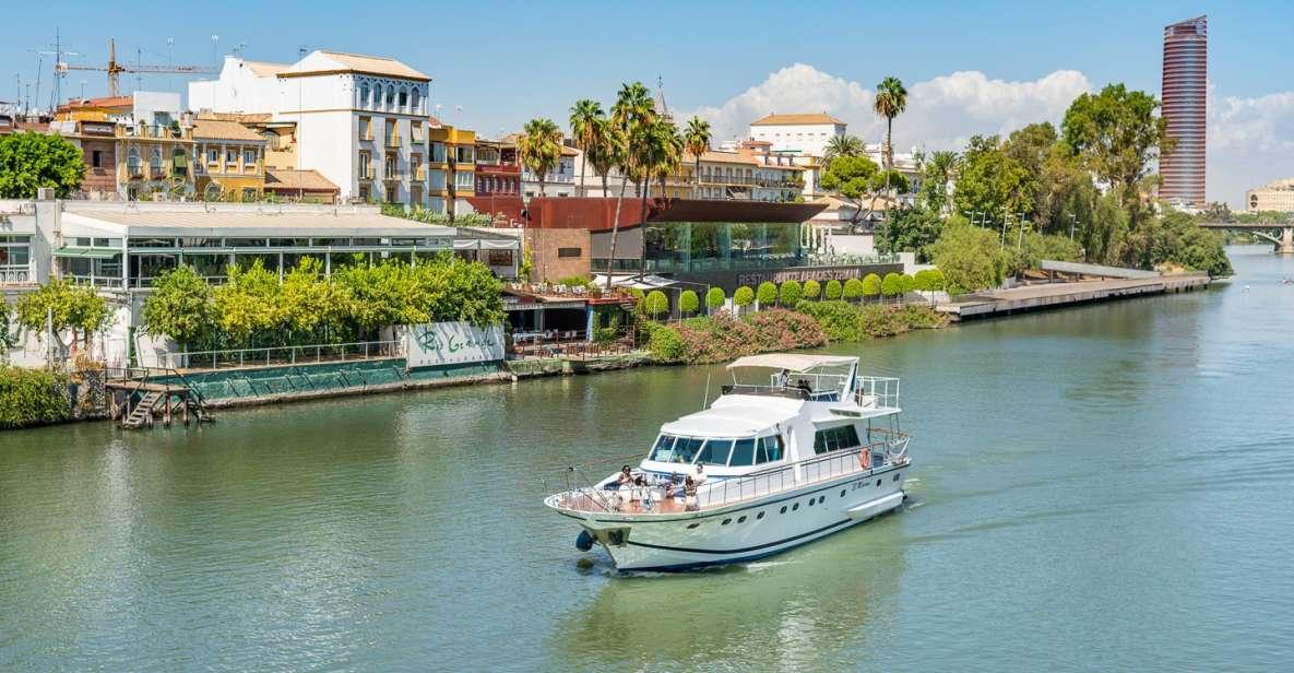 Seville: Guadalquivir Yacht Tour w/ Drink & Food Options