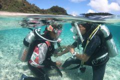 Naha: viagem introdutória de mergulho de meio dia aos Keramas