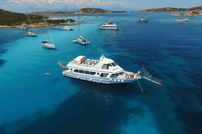 Ab Palau: Ganztags-Bootsausflug zu den La Maddalena-Inseln