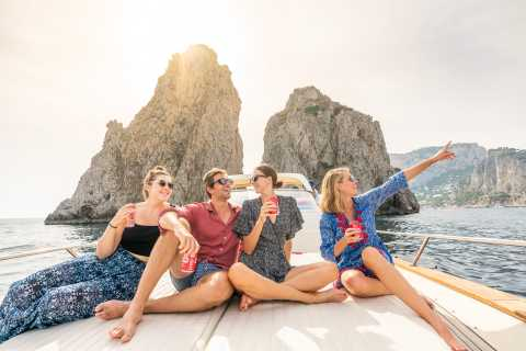 Sorrento: luxe boottocht naar Capri en optioneel Blauwe Grot