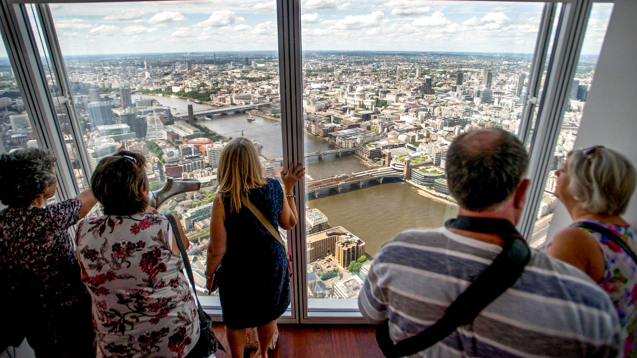A vista do The Shard