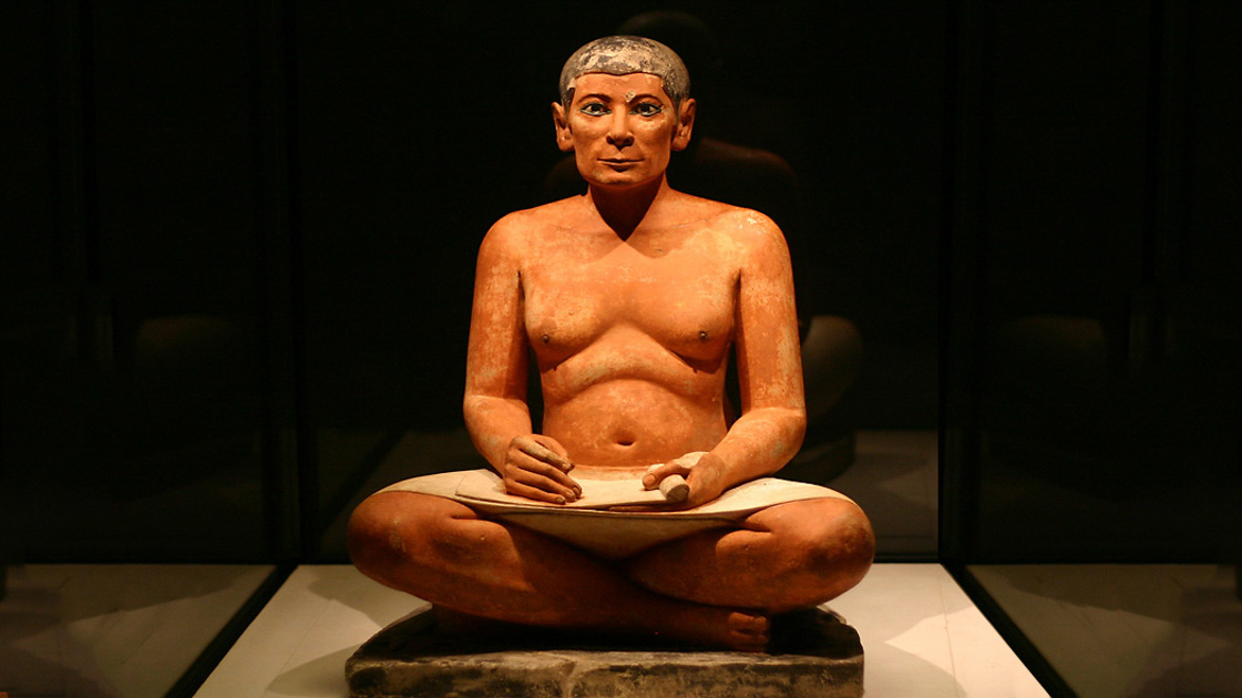 """The Seated Scribe"" (ca. 2600 B.C.)"