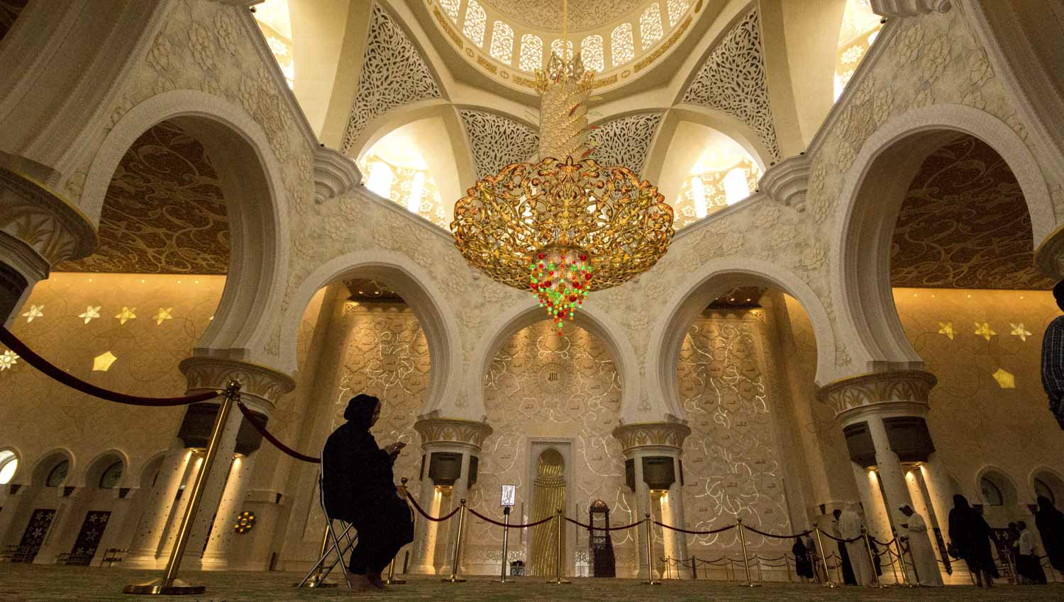 It's home to the world's largest chandelier