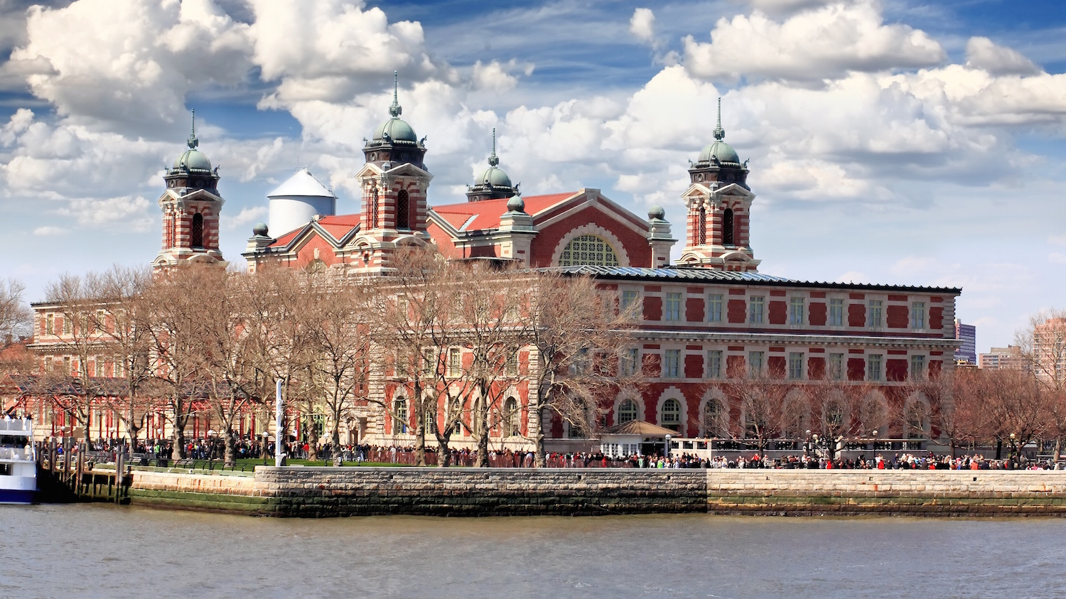 Ellis Island And Liberty